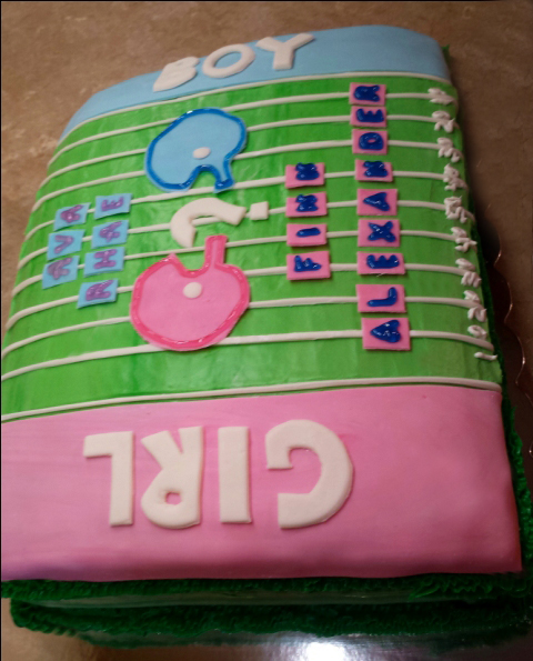 Baby Reveal Cake January 30th 2015 (8)